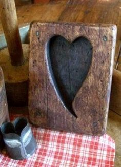 Old Wooden Heart...mold.