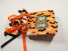 Halloween Mini Album, Halloween Scrapbook, Premade Album, Halloween Brag Book, Halloween Photo Album, Chipboard Album, 4x4, Memory Book by HampshireRose on Etsy