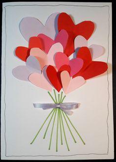 Material: Vitt (el annan färg) kraftigare papper, A4. Färgat papper (rosa, rött, lila), mindre bitar. Lim. Grön tusch- el färgpenna. Sidenband el liknande, ca 15 cm. Svart tunn penna. Blyertspenna.…
