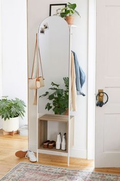 Check out Rooney Entryway Storage Mirror from Urban Outfitters Cute Dorm Rooms, Cool Rooms, Mirrors Urban Outfitters, Urban Outfitters Apartment, Magazine Deco, Entryway Storage, Bathroom Storage, Diy Storage Mirror, Entryway Ideas