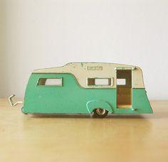 Vintage 1960s Collectible Retro Diecast Dinky Caravan by franz66. $46.00, via Etsy.