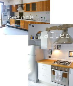 Francesca's home: restyling old kitchen with new Ikea modules