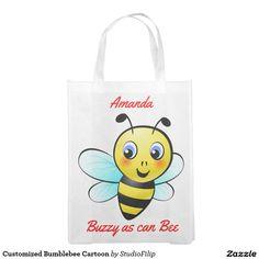 Customized Bumblebee Cartoon Reusable Grocery Bags
