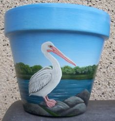 Sea art paintings on clay pots. Sea art paintings on clay pots. Flower Pot Art, Clay Flower Pots, Flower Pot Crafts, Painted Clay Pots, Painted Flower Pots, Hand Painted, Clay Pot Projects, Clay Pot Crafts, Decorated Flower Pots