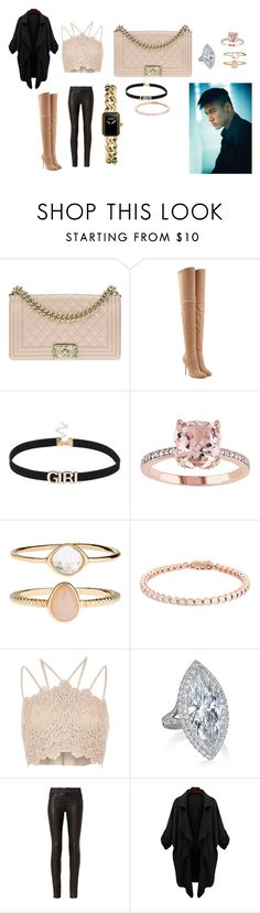 """WAGS--Neymar's Wife"" by shanty-gordon ❤ liked on Polyvore featuring Chanel, Balmain, Accessorize, River Island and rag & bone"