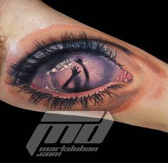 Behind The Eye Tattoo