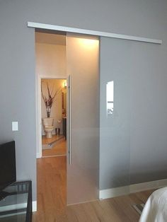 Creative Mirror & Shower - Addison, IL, United States. Frameless Glass Barn Door featuring German Hardware