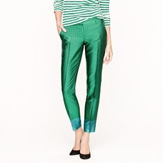 Collection café capri in green tie silk - Fancy Pants - Women's Women_Feature_Assortment - J.Crew
