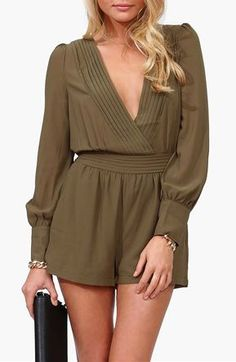Sultry Romper - Olive