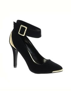 Image 1 of New Look Osbourne Thick Strap Pointed Heeled Shoes