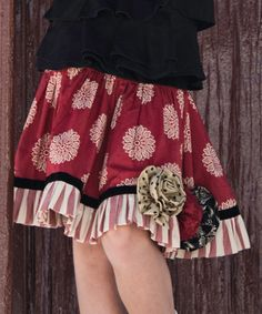 Look at this #zulilyfind! Red Rosette Skirt - Infant, Toddler & Girls by Persnickety Clothing #zulilyfinds