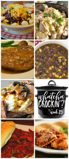 This week's Whatcha Crockin' crock pot recipes include Slow Cooker Chicken and Noodles, Slow Cooker Cincinnati Chili, Sherried Beef Manhattan, Slow Cooker Cheesy Ravioli Casserole, Crock Pot Black Bea (Bake Goods Black Beans)