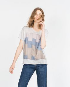 Image 2 of PATCHWORK T-SHIRT from Zara