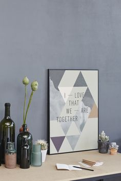"""Poster """"I Love that we are together"""" What a beautiful present <3"""
