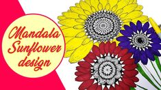 Mandala Sunflower Designs | Mandala art | Floral art Mandala Artwork, Sunflower Design, Permanent Marker, Art Floral, Mandala Design, Sharpie, Markers, Sharpies, Flower Art