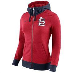 Nike St. Louis Cardinals Women's Red MLB Logo Blended Full Zip Hoodie #cardinals #mlb #stlouis