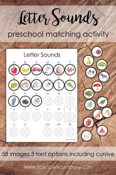 This fun activity allows your little spark to consolidate their knowledge of letter sounds as they match images to their corresponding beginning letter sounds. This set includes 58 watercolour images, two for each of the 26 letters of the alphabet and two for each of the digraphs ch, sh and th. Montessori Homeschool, Preschool Literacy, Preschool Letters, Watercolor Images, Watercolour, Language Activities, Fun Activities, Cursive Fonts, Print Fonts