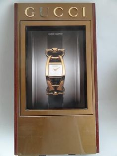 GUCCI RARE WATCH SHOP ADVERTISING WOODEN DISPLAY DOUBLE SIDED JEWELLER's SHOP#rolex#omega