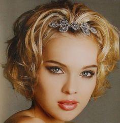 Short hair ideas. Try a clip from Ma Cherie: http://macheriebridal.theweddingmile.com/items/details/11502-crystal-hair-comb-bridal-hair-comb-rhinestone-hair-comb-bridal-hair-accessories-bridal-comb-silver-hair-comb-wedding-hair-comb