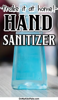 Make a gentler hand sanitizer by using aloe vera gel as the base for your homemade hand sanitizer. Use 99% isopropyl alcohol so your gel is 60% alcohol to kill germs and protect your family. #handsanitizer #homemade #diyrecipe Deep Cleaning Tips, Cleaning Hacks, Best Hand Sanitizer, Kids Plates, Travel Size Bottles, Citrus Oil, Small Bottles, Homemade Products, How To Make Diy