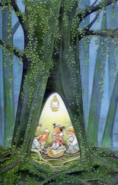 Sweet illustration by Marla Frazee who is an American author and illustrator of children's literature. She has won two Caldecott Honors for picture book illustration. Art And Illustration, Book Illustrations, Marla Frazee, Illustrator, I Love Books, Childrens Books, Book Art, Summer Nights, Pasadena California