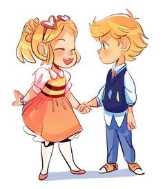 amaryllis-arts: So according to this, it's implied that since Adrien was home schooled for most of his life, his first and only friend (before attending Marinette's school) was Chloe- …my hEART-