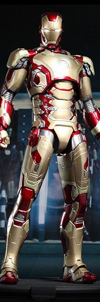 With the highly anticipated release of Iron Man 3 just around the corner, Sideshow Collectibles and Hot Toys are proud to present the Iron Man Mark XLII MMS DI Marvel Heroes, Marvel Characters, Marvel Dc Comics, Marvel Avengers, Iron Man Kunst, Iron Man Art, Iron Man Avengers, Famous Superheroes, Iron Man Action Figures