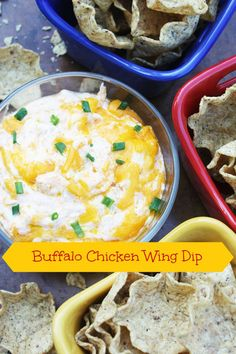 Buffalo Chicken Wing Dip ~ A great dip for family fun night, party or a football game!