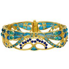 Parisian Art Nouveau Dragonfly Bracelet - Bracelets by store.metmuseum.org #Bracelet #Dragonfly