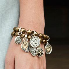 Waxing Poetic Charm Bracelet. Momma loves Waxing Poetic!!