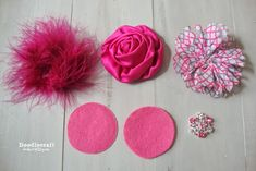 shabby+chic+pink+valentine+hair+bow+clip+flower+headband+rhinestones+chiffon+flowers+rosettes+rose+marabou+pouf+feathers+(1).JPG (690×460)