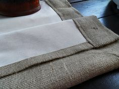 "Burlap panel 52"" with lined - Rustic Burlap Curtains - choose your length"