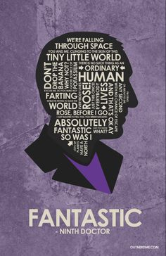Dr. Who 9th Doctor Quote Poster by OutNerdMe on Etsy
