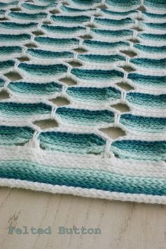 Felted Button: ::Candy Stick Blanket Crochet Pattern:: Perfect for busting your stash or making in colors to suit your style!