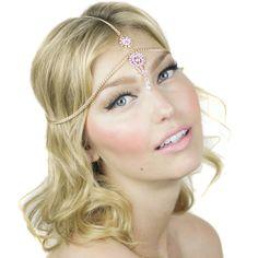 Crystal Beaded Tikka Prom Bridal Headpiece by ShopKP on Etsy, $34.00