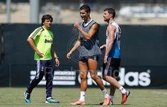 Xabi Alonso y Cristiano Ronaldo via Real Madrid Facebook