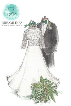 Personalized sketch of her wedding day. A gift to take her breath away. Her wedding dress sketched and framed. #weddingdresssketch #dreamlinesweddingdresssketch #dreamlinessketch #anniversarygift #weddinggift #bridegift #bridalshowergift Romantic Gifts For Wife, Best Gift For Wife, Birthday Gifts For Girlfriend, Wedding Shower Gifts, Wedding Gifts, Wedding Day, Wedding Dress Sketches, Wedding Ring For Her, Wedding Vendors