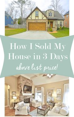 How I sold my house fast.