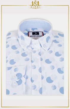 Exclusive to Sirri, our dazzling polka dotes print shirt comes with button detail on sleeve so you can roll them up with no fuss. Suitable for day to day wear, Match this outfit up with our shorts or chinos pants and you have a great looking outfit. Shop now at SIRRI kids #childrens suits #boys 3 piece suit #kids wedding suits #boys communion suits