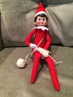 Free Knitting Patterns For Elf On The Shelf Clothes : Frilly Skirt Elf on the Shelf Free Knitting Pattern by ...
