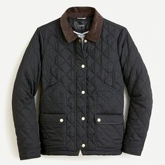 J.Crew: Quilted Barn Jacket™ For Women Matches Fashion, Barn Quilts, Field Jacket, Outerwear Women, Lightweight Jacket, Utility Jacket, Cashmere Sweaters, Work Wear, J Crew