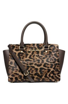 44745a6f8db0 MICHAEL Michael Kors  Medium Selma  Calf Hair   Leather Satchel