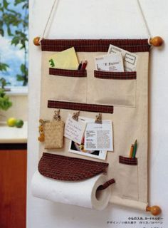 Nice idea for making a useful hanging wall pockets.