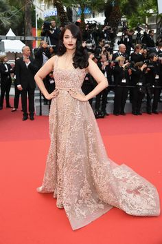 Aishwarya Rai wears ELIE SAAB Haute Couture at 'Le Bon Gros Geant' premiere at the 69th annual Cannes Film Festival.