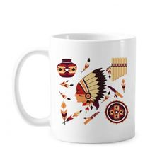 Indian Feather Headdress Native American Primitive Pottery Classic Mug White Pottery Ceramic Cup Gift Milk Coffee With Handles 350 ml #Mug #Indian #Cup #FeatherHeaddress #Beermug #NativeAmerican #Coffeemug #PrimitivePottery #Coffeecup #Feature #Caneca #Teacup #Milkcup #CeramicMug #BirthdayGift