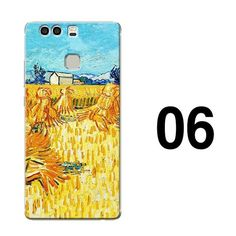 Starry Night Van Gogh Design Paint phone case for huawei p10 p9 plus p9 p8 lite 2017 mate 9 pro 8 soft silicone hard cover case