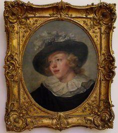 Attribué à Jean-Honoré Fragonard, Jeune garçon au chapeau de plumes   XVIIIe siècle, Huile sur toile, Musée Cognacq-Jay, Paris