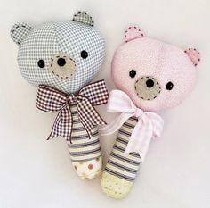 PATTERN TUTORIAL bear rattle soft toy