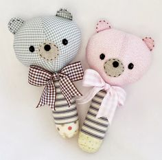 PATTERN TUTORIAL bear rattle soft toy