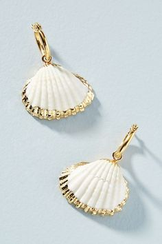Amber Sceats Cordelia Drop Earrings by in White Size: All Jewelry at Anthropologie get in style Seashell Jewelry, Sea Glass Jewelry, Cute Jewelry, Jewelry Shop, Jewelry Stores, Diy Jewelry, Gold Jewelry, Jewelry Accessories, Handmade Jewelry
